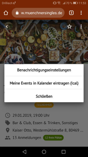 Hamburger Single Events ganz einfach in den Kalender exportieren